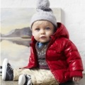 Winter of red light fabric cotton-padded jacket children baby winter cotton coat(China (Mainland))