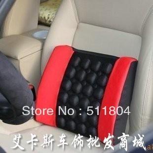 Car Tournure Cushion Auto Seat Lumbar Support Pillow Massage Sandwich Back Cushion (2pcs/Lot) Christmas Sale