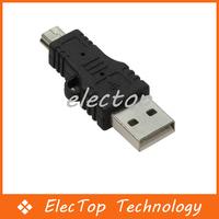 Free shipping USB Male to Mini USB 5 Pin Male Adapter Converter 500pcs/lot Wholesale