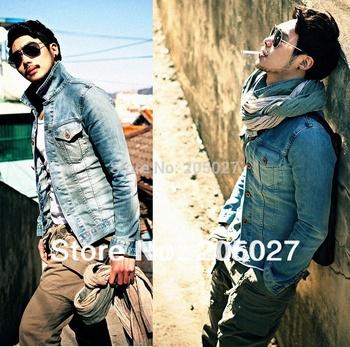 Sale all size! freeship mens 2012-2014  vintage denim jacket men outerwear outergarment
