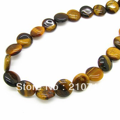 Free Shipping Wholesale Jewelry Shop Oblate Yellow Tiger Eye Loose Beads Fit for bracelet/necklace HA833a(China (Mainland))