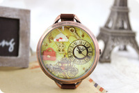 Vintage watch polymer clay ladies watch day gift