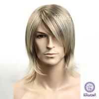 Christmas cheap male wigs man cool cute hair wig sexy men handsome high quality socail artist wigs ZL8-16
