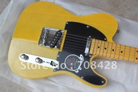 free shipping  new arrival hot selling telecaster american standard yellow electric guitar