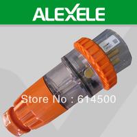 Free Shipping 56P532 500V 3 Phase IP66 5Pin 32A Waterproof Straight Plug