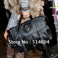 Womens Skull PU Leather Handbag Tote Shoulder Bag woman hand bag  New Fashion