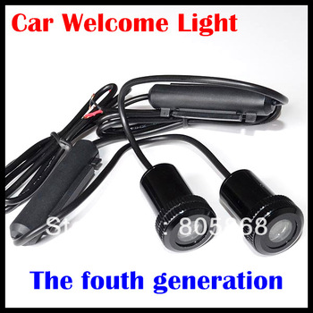 HOT SALE!!!The fourth generation New 7W Car Door Welcome Light Laser Lights with car logo  Shadow light