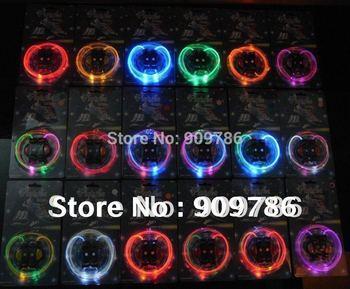 50pcs(25 Pair) 2012 new hot selling Disco Flash light up LED Shoelace Blister packing