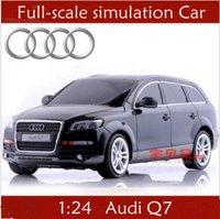 1:24 Audi Q7  RC car simulation SUV models remote control drift car toy + free shipping