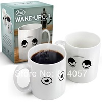 48 PCS Wholesale Free Shipping Wake Up Mug Color changing Cup, Novelty Ceramic Wake-Up Coffee Mug  For Tea With Retail Packaging