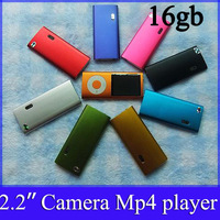 mp4 player 16gb  5th Gen 2.2 inch TFT Screen MP4 player  MP3 Player with camera & Video Radio FM  Free shipping 30pcs/lot
