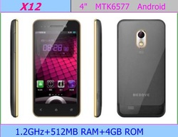 "6535 Free shipping X12 3G Android 4.0 Smartphone MTK6577 Dual-core cellphone Hz 4.0""HD(960*540)Capacitance Screen Unlocked(China (Mainland))"