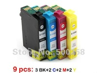 9 ink cartridge(2sets+1BK) Compatible  for epson Printer TX120 T22 NX125 Workforce 300 525 T1331-T1334 133N