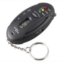 LED Digital Breath Alcohol Tester Analyzer & Timer with Flashlight Key Chain