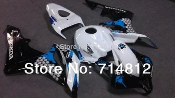 Fairing For Honda CBR 600 RR 2007 2008 CB600RR 2007 2008 CBR600 RR 07-08 graffiti white black ABS Plastic Bodywork Set HC04