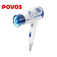 Free shipping china style POVOS PH6813  1500W  hair dryer foldable handle