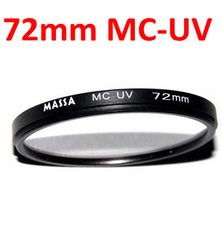Free shipping Wholesale(30pcs/lot) 72mm Multi Coated Ultra-Violet Optical Glass Filter(China (Mainland))