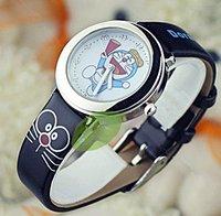 2pcs/lot Brand Cute kids wristwatches Tinker bell a DORAEMON girls and boys cartoon child watches+christmas gift