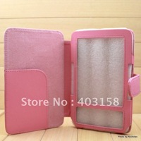 Pink Color Amazon Kindle 3 Case, Pu Leather Skin Cover Case for Amazon Kindle 3 3rd Gen Keyboard,Freeshipping