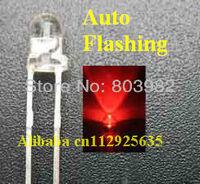 Good quality strobe 1.5Hz single blinking 3mm red led(signal flash led diode)