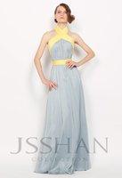 11P193 Halter Ruched Banded Waist Slim-Line Junoesque Elegant Gorgeous Luxury Unique Brilliant Evening Dress Sexy Prom Dress