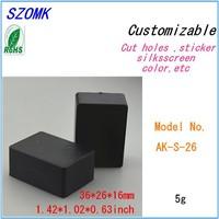 (100  pcs)  plastic box case electronic project  36*26*16mm 1.42*1.02*0.63inch