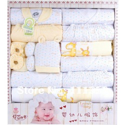 Free shipping 17 pieces(set) Baby Supplies Newborn Gift Set / Infant Clothing Set/ Baby Suit Baby Clothing High Quality!(China (Mainland))
