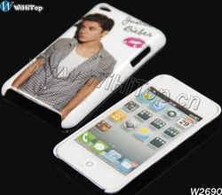 Famous Star Justin Bieber Case for iPod iTouch 4,One Direction Case for iTouch 4 (50PCS/Lot)(China (Mainland))