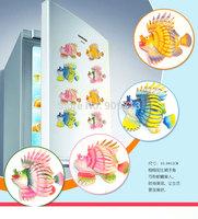 Home decoration fridge magnets animal 11cm vivid simulation spring moving lionfish wholesale 60pcs/lot color mix DHL free ship