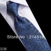 Skinny tie Wholesale polyester silk casual men's wedding stripe Tie 9.5*150cm