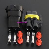 10 sets- H11 Waterproof 2 Pin Electrical Wire Connector Plug AWG Car Motorcycle Marine