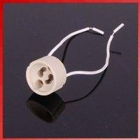 10pcs/Lot GU10 Base Socket holder LED Light Bulbs Lamps New Regulation Ceramic Mains Holder Wire Connector