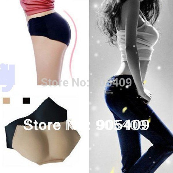 New Lady Sexy Butt Hip Up Padded Enhancer Shaper Panties Seamless Soft briefs Underwear drop free shipping(China (Mainland))