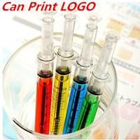 Wholesale free shipping creative Fashion New Korean Style Syringe/pin tube shape Ball point pen plastic promotion Gift ball pen