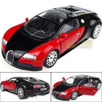 Speedy 1:24 Diecast Car Bugatti Veyron Super Car alloy car model Red-Black