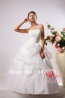 Free Shipping Spaghetti strap wedding dress large wedding 2013 princess wedding dress formal dress lace New Arrivall
