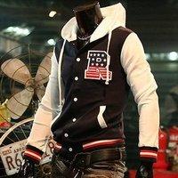 Big Sale ! The cross-quarter of the first fashion men jacket S letter baseball shirt baseball uniform coat   W06700