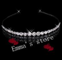 Free Shipping Beautiful Clear Tiara Headpiece Headband Bridal Wedding Hair Accessories Crystal Crown