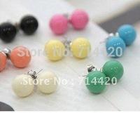 20 Pairs Milt-color Candy Ladies Ball Stud Earings Ear Nail Eardrop Earbob