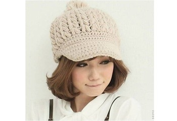 Delicate Gift Handmade Women Hat Winter Beanies Peaked Cap For Women Nice  Lady's Headwear 8 Colors For Choose Cloth Accessory
