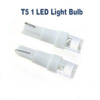 Free Shipping  1000pcs DC 12V LED Automotive Lighting T5 1 Chip LED Bulb LED Car light LED Lamp