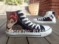 2013 Coolest canvas Shoes Naruto Gaara Anime High-top Canvas Shoes hand painted for men women