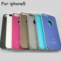 Metal Aluminum matting panel Air Jacket hard back cover Case For iPhone 5 5g 5th , wholesale Free Shipping 10pcs