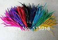 Wholesale - Dyed single feather Hair Extension Acc Dyed Single Goose Biots Loose Feathers for fascinators/sinamay hat/mask
