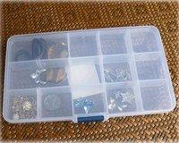 15 case transparent jewelry box kit multi-function travel storage box (KG-08)