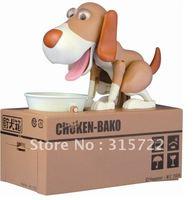 Automated dog steal coin piggy bank,kitty saving money box,coin bank,money bank, kids gift,novelty toys G-002