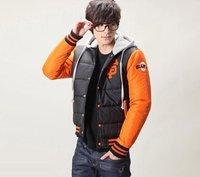 HOT ON SALE! Baseball Sport Hoodie Winter 6 Colors Plus Size Men's Down Jacket Cotton Warm Coat M,L,XL,XXL,