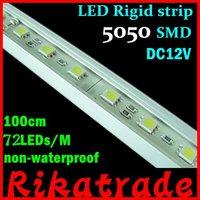 Wholesale 10pcs/lot 5050 SMD 100cm 72 LEDs white,warm white non-waterproof led tube,LED rigid strip, DHL Free shipping