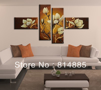 Free Shipping !!! The Mangnolia, Handmade Modern Oil Painting On Canvas  Wall Art  ,Top Home Decoration G007