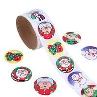 400PCS/LOT.Christmas stickers,Paper stickers,Indoor christmas ornament,Christmas decoration.Xmas crafts.,Kids toys,3.8cm.